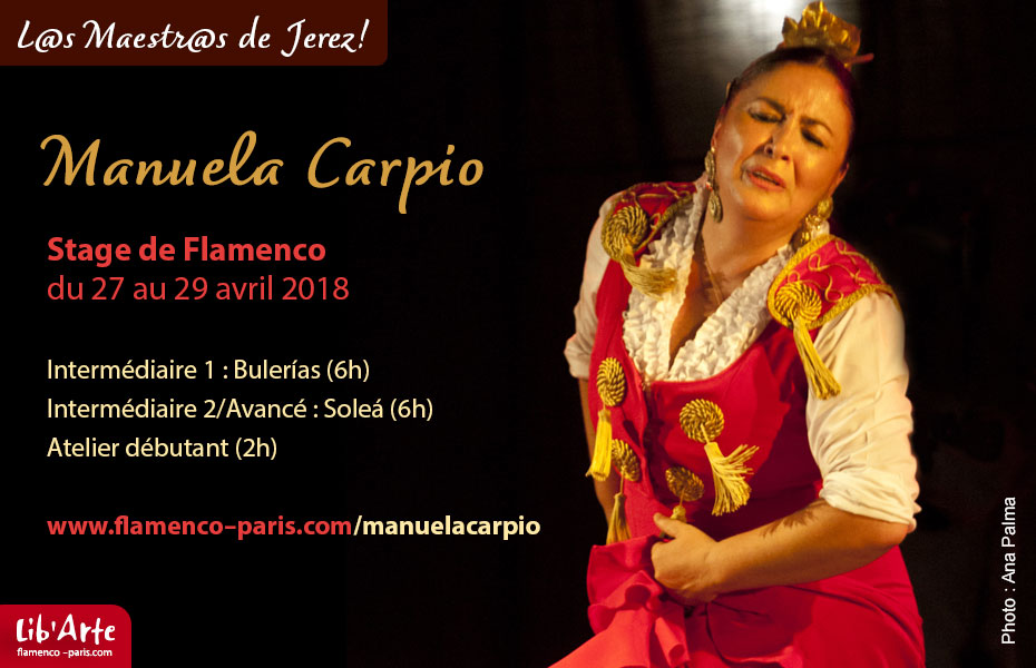Stage de Flamenco à Paris avec Manuela Carpio